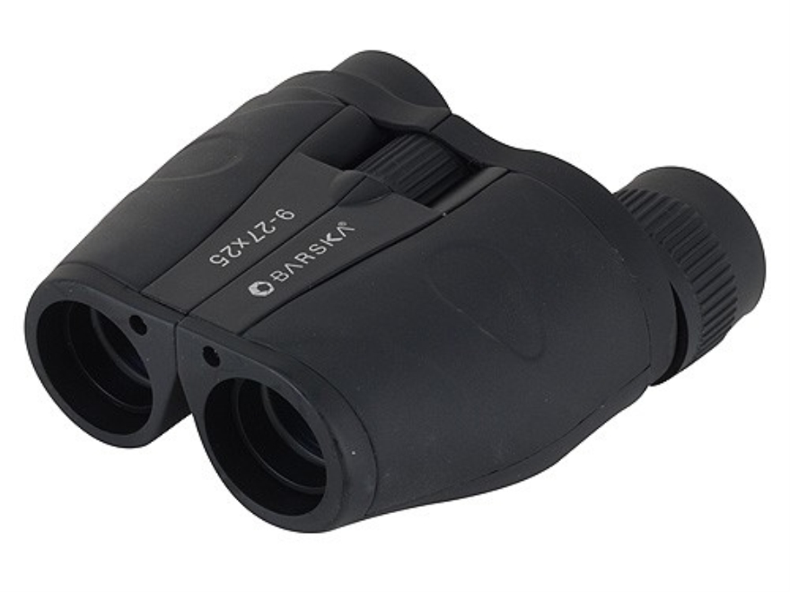 Barska Gladiator Binocular 9-27x 25mm Porro Prism Rubber Armored Black