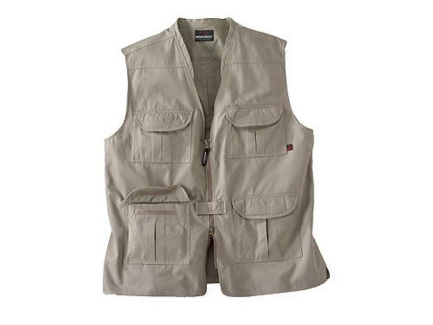 Woolrich Elite Lightweight Discreet Carry Vest Cotton Canvas Khaki Large