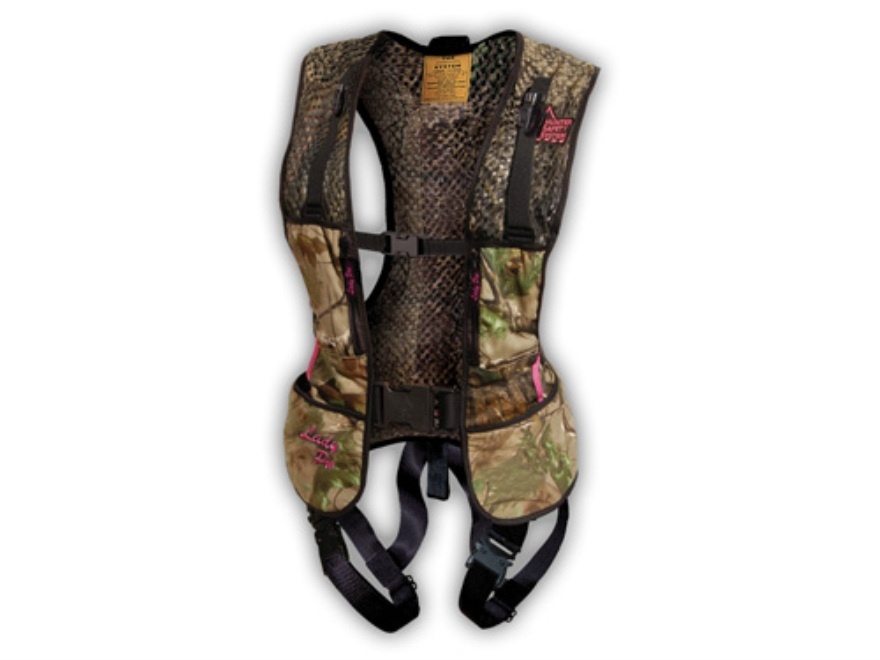 Hunter Safety System Lady Pro Series HSS-650R Treestand Safety Harness Vest Realtree APG Camo Small/Medium 32-44 Chest