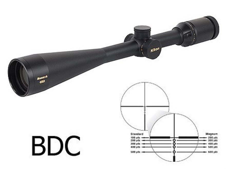 Nikon Monarch ED Rifle Scope 8-32x 50mm Side Focus BDC Reticle Matte