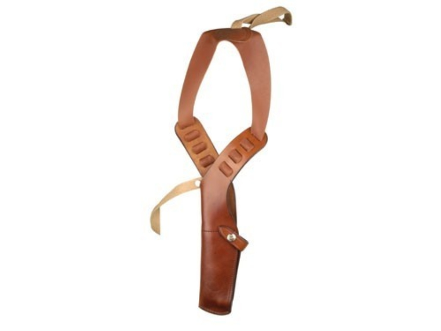 "Bianchi X15 Shoulder Holster Rig 1911, Beretta 92, Browning Hi-Power, Colt, S&W K, L-Frame 4"" Barrel Leather Lined Leather Tan"