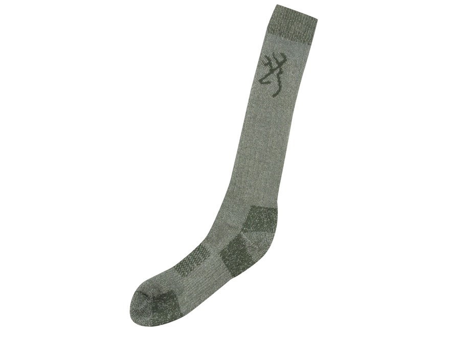 Browning Men's Heavyweight OTC Socks Merino Wool Blend Green Large 9-13