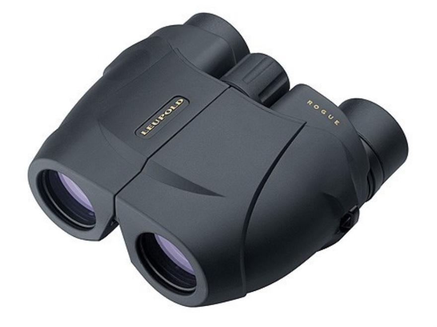 Leupold Green Ring Rogue Compact Binocular 25mm Porro Prism Armored Black