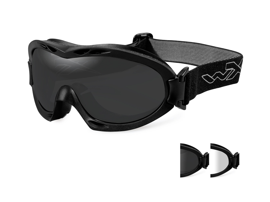 Wiley X Nerve Tactical Goggles Clear, Smoke Lenses
