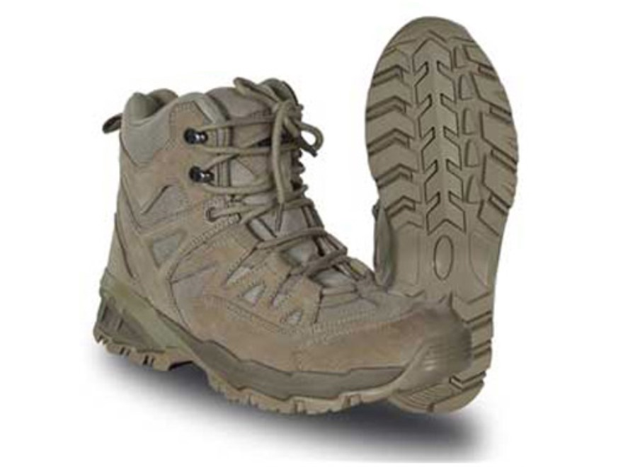 "Voodoo Tactical 6"" Tactical Boots Leather Desert Tan Men's 10 D"