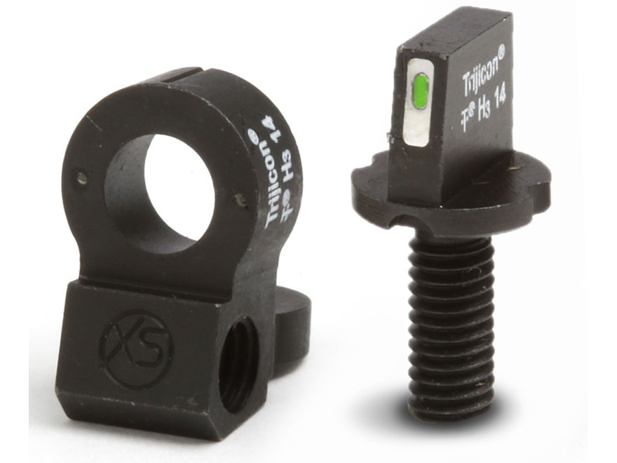 XS 24/7 Tactical Night Sight Set AR-15 Steel Matte Tritium Bar Front, Tritium Ghost Ring Rear