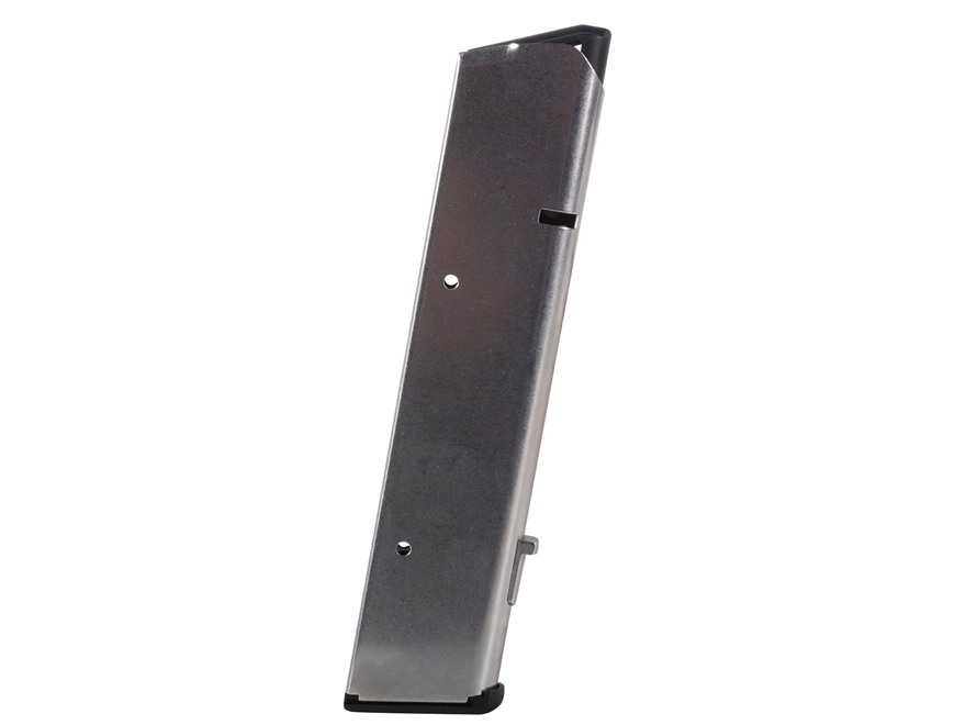 Wilson Combat Magazine with Base Pad 1911 Government, Commander 45 ACP 10-Round Stainle...