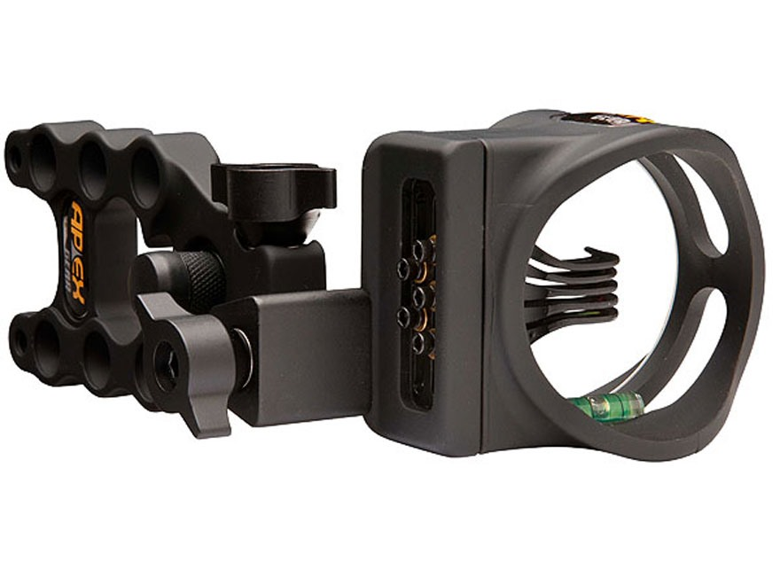 "Apex Gear Accu-Strike Pro 5-Pin Bow Sight .019"" Diameter Pins Black"