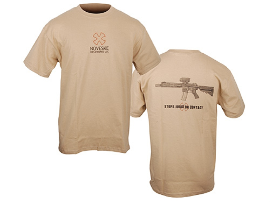 Noveske T-Shirt Short Sleeve Cotton/Polyester Tan Large