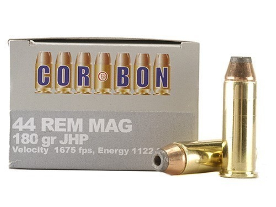 Cor-Bon Hunter Ammunition 44 Remington Magnum 180 Grain Jacketed Hollow Point Box of 20