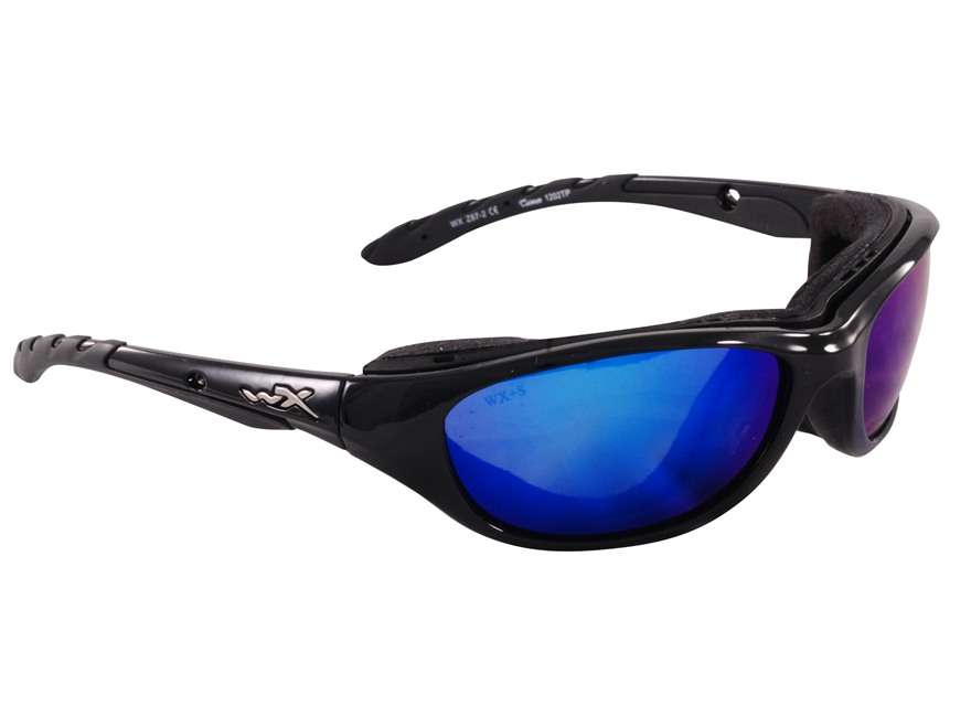 Wiley-X Airrage Shooting Safety Glasses Polarized Blue Mirror Lens
