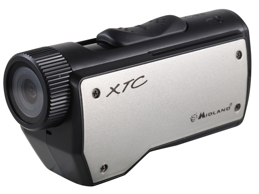 Midland XTC-200 720P HD Action Camera Kit Silver and Black