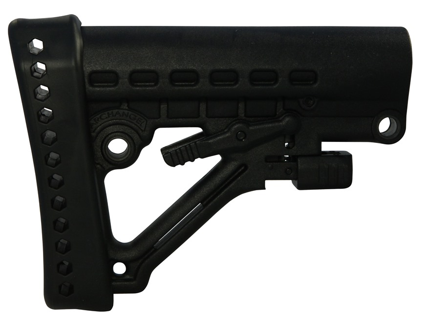 Archangel Stock AR-15 Carbine Collapsible Commercial Diameter Polymer Black