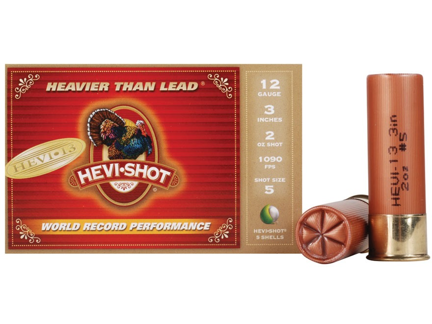 "Hevi-Shot Hevi-13 Turkey Ammunition 12 Gauge 3"" 2 oz #5 Hevi-Shot Non-Toxic Box of 5"