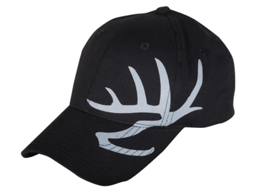 Heartland Bowhunter Flex Fit Antlers Cap Cotton Black