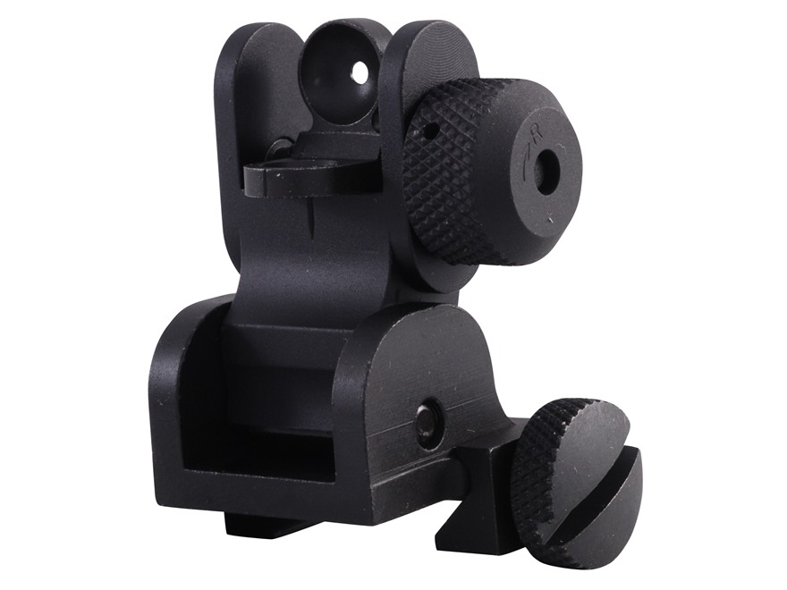 Yankee Hill Machine Flip-Up Rear Sight AR-15 Flat-Top Aluminum Matte