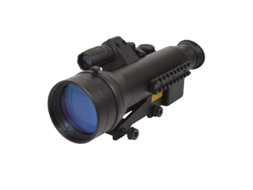Sightmark Night Raider 1st Generation Night Vision Rifle Scope 3x 60mm Illuminated Red on Green Duplex Reticle with Integral Weaver-Style Mount Matte
