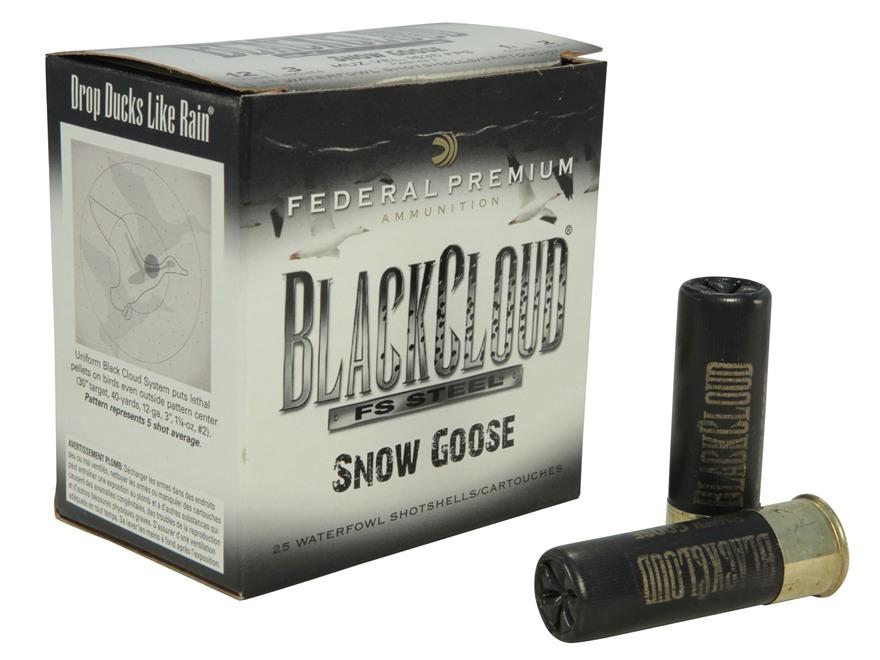 """Federal Premium Black Cloud Snow Goose Ammunition 12 Gauge 3"""" 1-1/8 oz #2 Non-Toxic Fli..."""