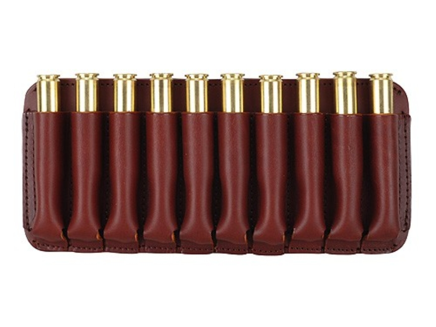 Boyt Ammo Wallet Rifle Ammunition Carrier 10-Round 243 Winchester to 30-06 Springfield Leather Brown
