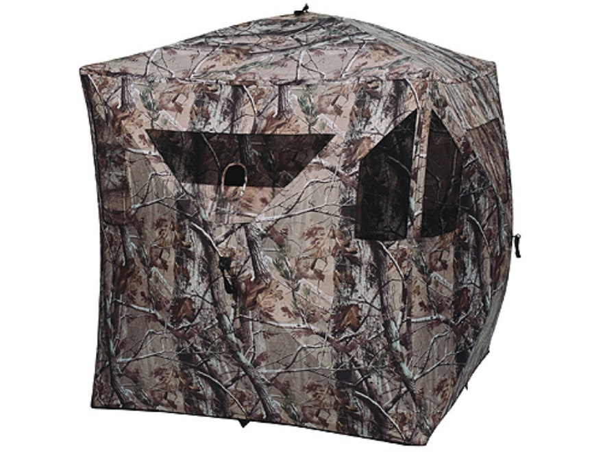 "Ameristep Brickhouse Ground Blind 75"" x 75"" x 67"" Polyester Realtree AP Camo"