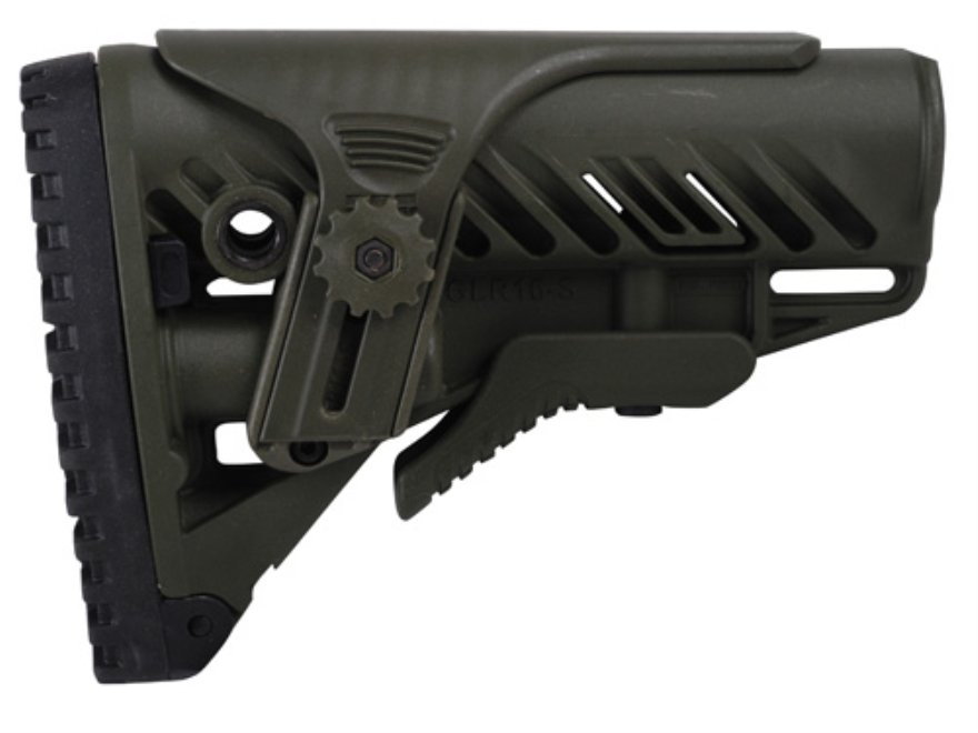 Mako GLR16 Buttstock with Adjustable Cheek Rest Collapsible AR-15, LR-308 Carbine Synth...