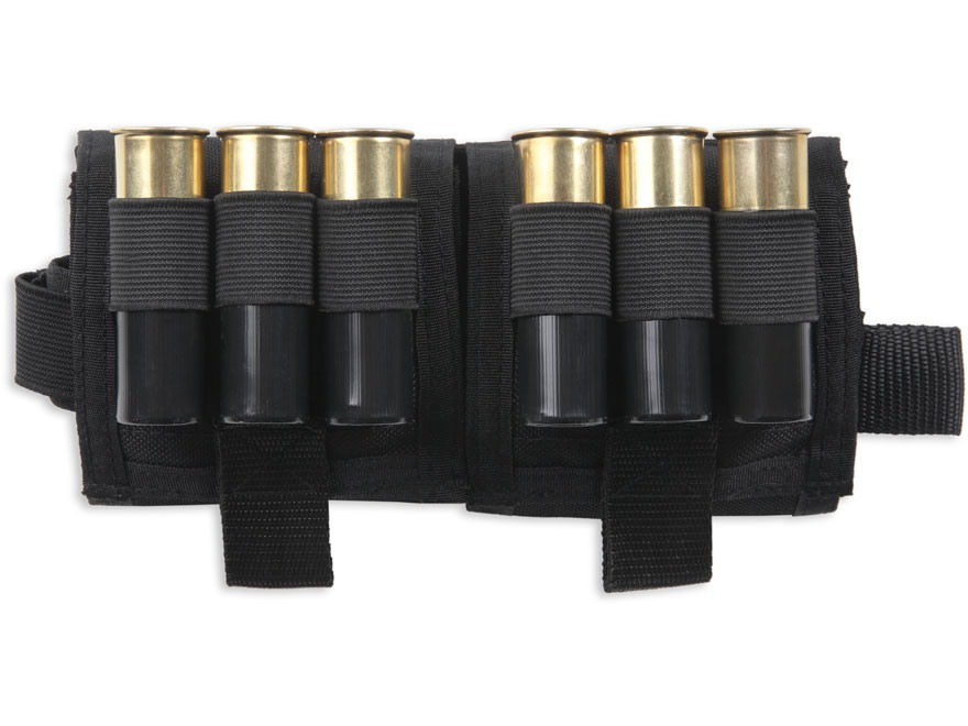 Colt Bi-Fold Compact Drop Down 12 Gauge Shotgun Shell Ammunition Carrier Nylon Black