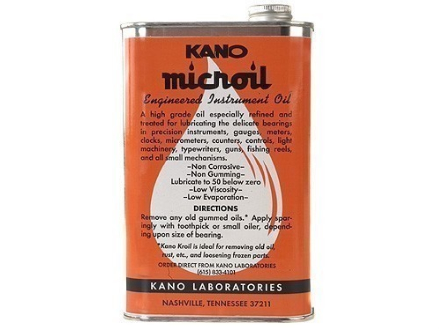 Kano Microil Precision Instrument and Gun Oil