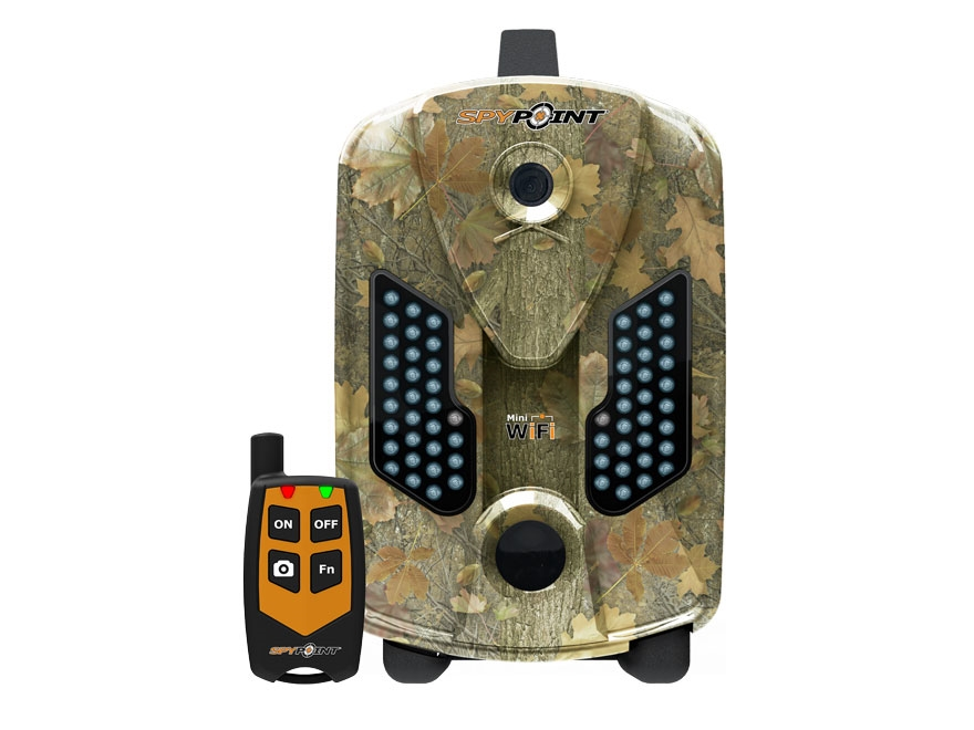 Spypoint Mini-WIFI Wireless Black Flash Infrared Game Camera with Remote 8 Megapixel with Viewing Screen Spypoint Dark Forest Camo