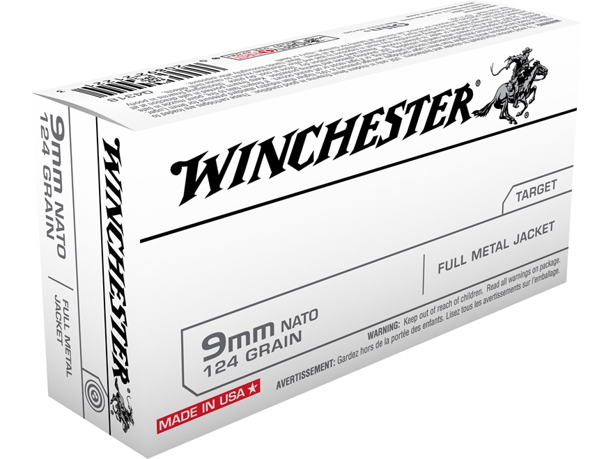 Winchester NATO Ammunition 9mm Luger 124 Grain Full Metal Jacket