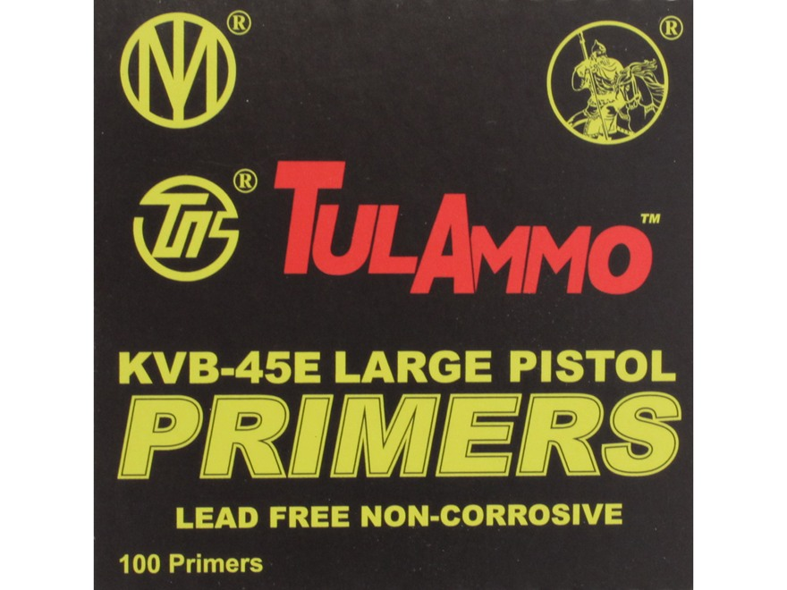 TulAmmo Large Pistol Primers Lead-Free Case of 5000 (5 Boxes of 1000)
