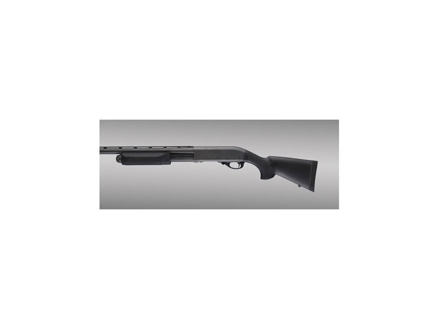 "Hogue Rubber OverMolded Stock and Forend Remington 870 12 Gauge 12"" Length of Pull Synthetic Black"