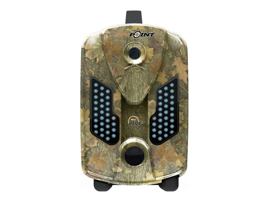 Spypoint Mini-Live Cellular Black Flash Infrared Game Camera with Remote 8 MP with Viewing Screen Spypoint Dark Forest Camo