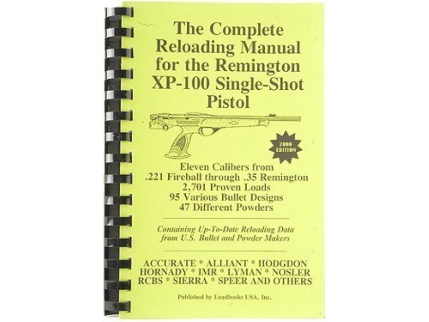 "Loadbooks USA ""Remington XP-100"" Reloading Manual"