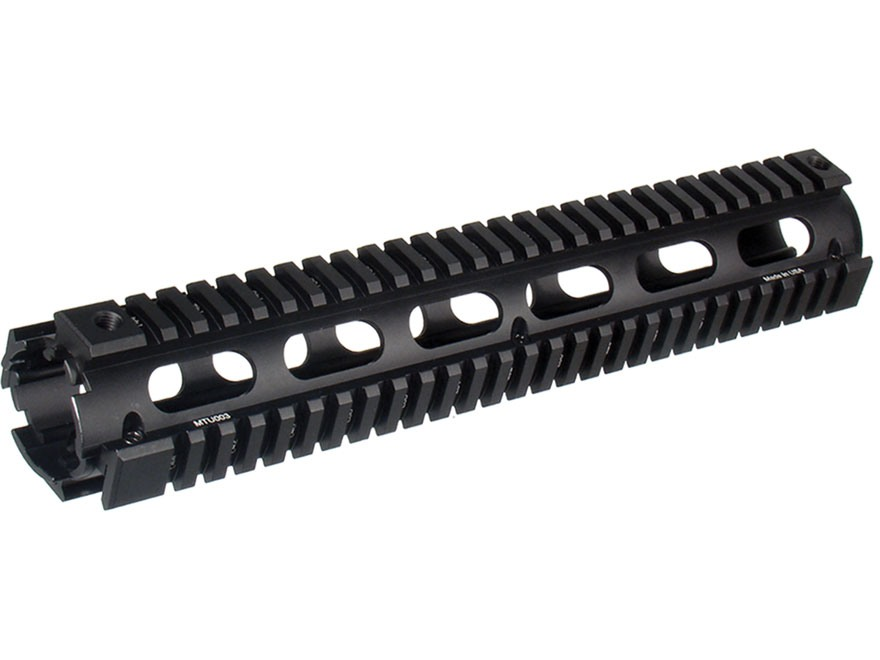 UTG Pro 2-Piece Handguard Quad Rail AR-15 Rifle Length Matte with Black Rail Guards