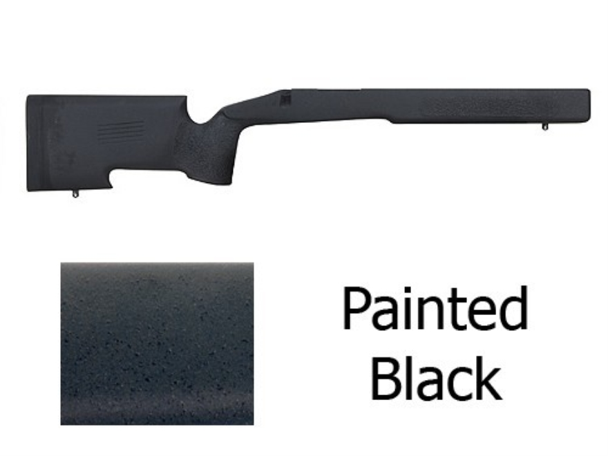 McMillan A-4 Rifle Stock Remington 700 ADL Long Action Varmint Barrel Channel Fiberglass Painted Black Semi-Inletted