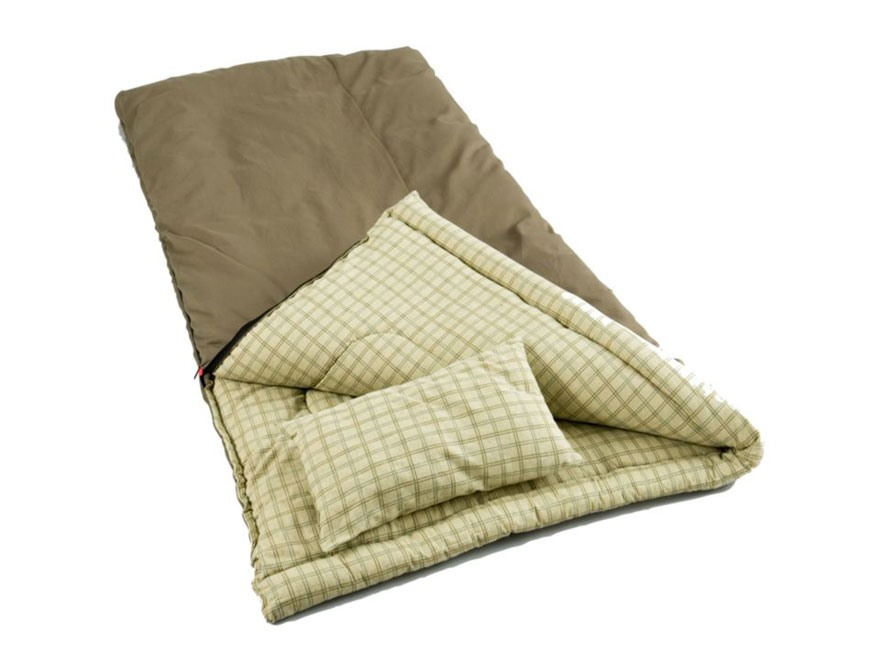 Coleman 5 Degree Sleeping Bag Cotton Olive Drab