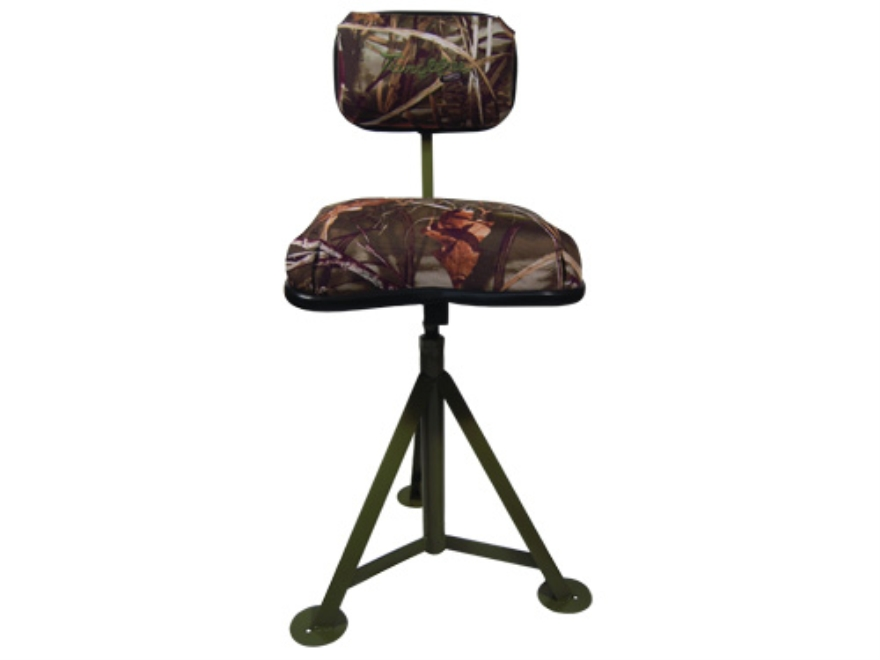 Tanglefree Hunting Blind Adjustable Swivel Stool/Chair Realtree Max-4 Camo