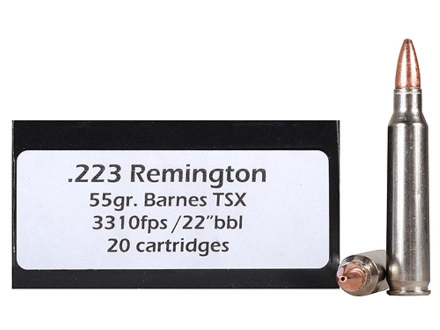 Doubletap Ammunition 223 Remington 55 Grain Barnes Triple-Shock X Bullet Hollow Point L...