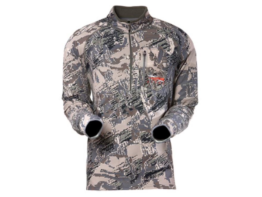 Sitka Gear Men's Traverse Zip-T Base Layer Shirt Long Sleeve Polyester Gore Optifade Open Country Camo Large 42-45