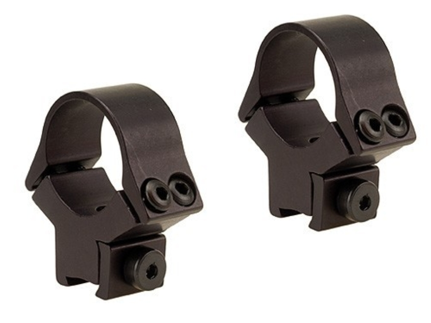 "B-Square 1"" x 11mm InterLock Fixed Airgun Dovetail Rings Matte"