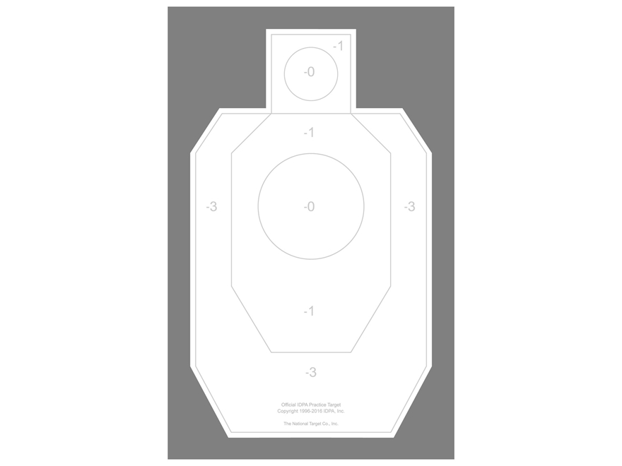 National Target Practice IDPA Target Paper Pack of 100