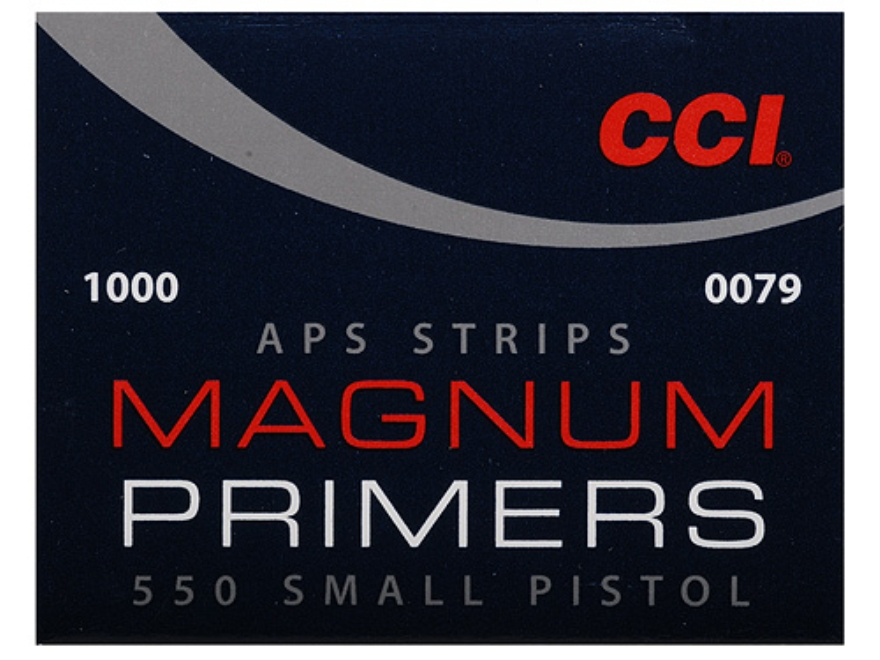 CCI Small Pistol APS Magnum Primers Strip #550 Box of 1000 (40 Strips of 25)