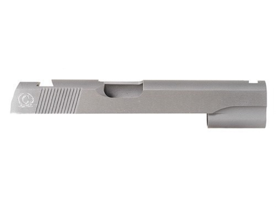 Caspian Slide 1911 Government 45 ACP Novak Front Sight Cut and Novak Rear Sight Cut Steel in the White
