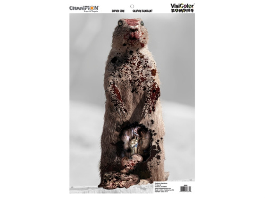 "Champion VisiColor Zombie Gopher Gore Target 12"" x 18"" Paper Package of 50"