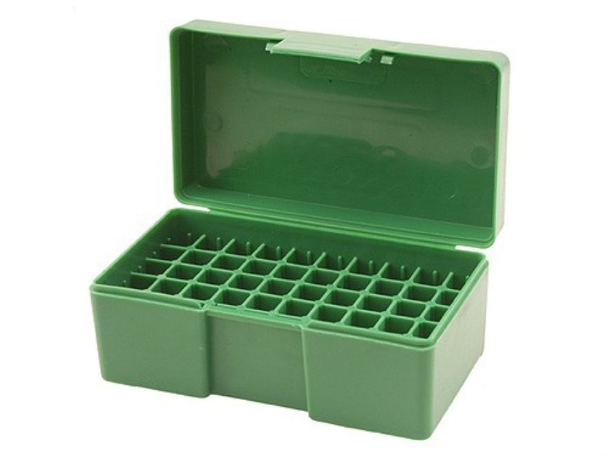 RCBS Flip-Top Ammo Box 38 Special, 357 Magnum 50-Round Plastic Green