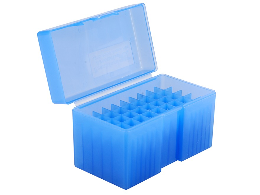 Frankford Arsenal Flip-Top Ammo Box #510 25-06 Remington, 270 Winchester, 30-06 Springfield 50-Round Plastic Blue Box of 10