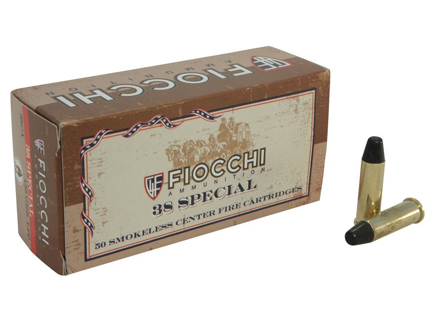 Fiocchi Cowboy Action Ammunition 38 Special 158 Grain Lead Round Nose Flat Point Box of 50