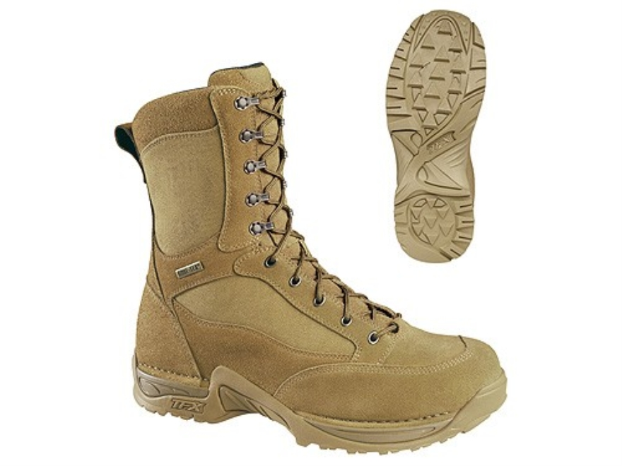 "Danner Desert TFX 8"" Waterproof Uninsulated Tactical Boots Leather and Nylon Mojave Brown Mens 10-1/2 D"