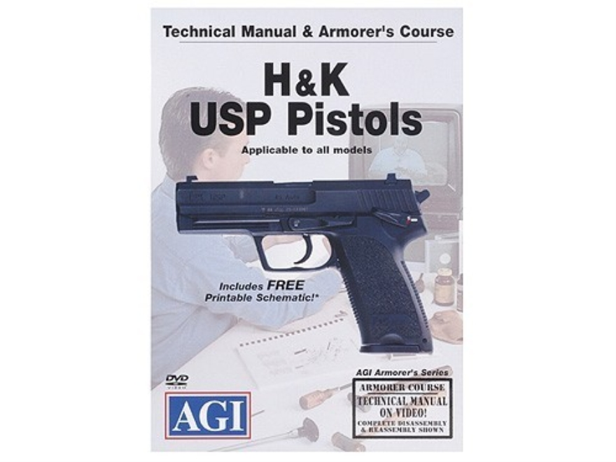 "American Gunsmithing Institute (AGI) Technical Manual & Armorer's Course Video ""HK USP ..."