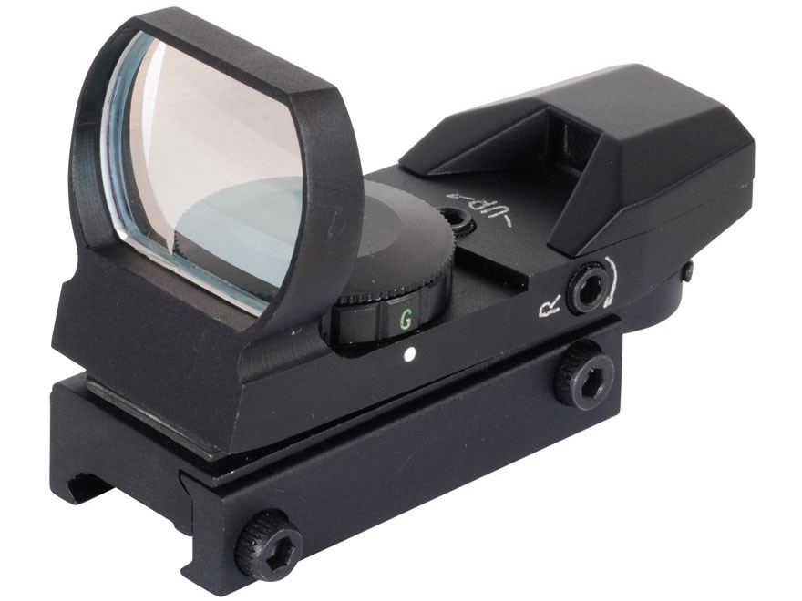 NcStar Tactical Red Dot Sight Red and Green 4-Pattern Reticle (Dot, Bullseye, Cross, and Star Burst) Matte
